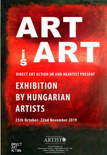 Hungarian European Artist /Heartist present a new exhibition at Direct Art Action UK