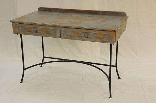 Grey wood desk metal legs