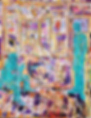 artist and curator acrylic on canvas 135