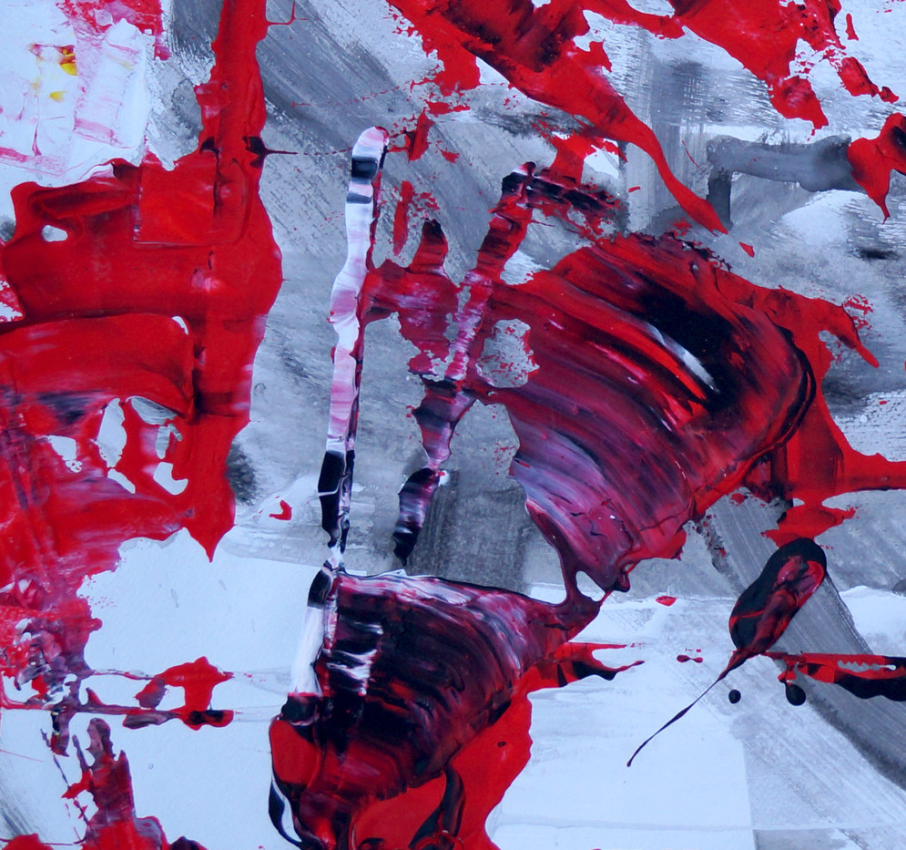 Red on Grey Meditation, The Essence of Abstract (2013)