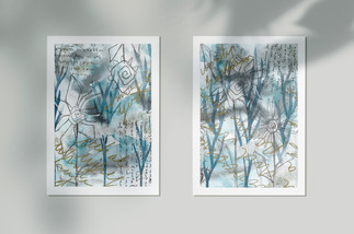 Zima - Ilustracija razglednice