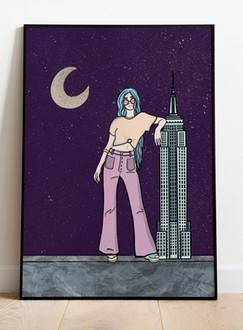 Night city gal