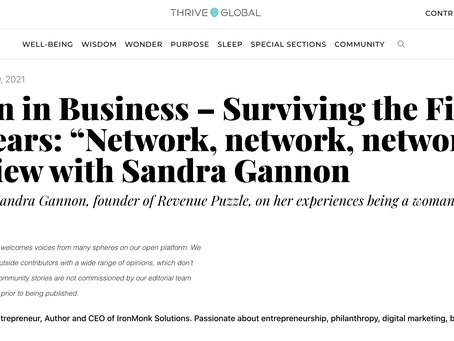 """Women in Business – Surviving the First Two Years: """"Network, network, network."""" Interview with Sandr"""