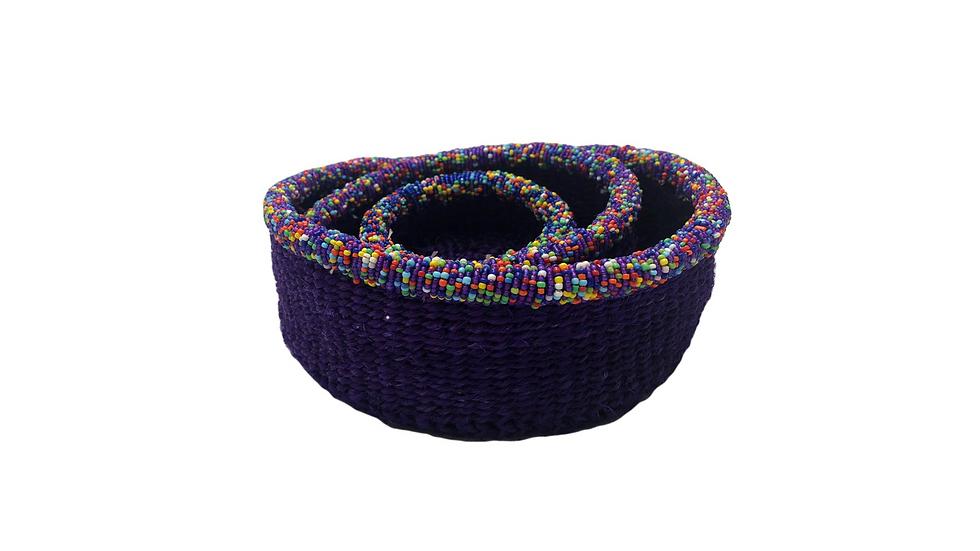 Purple Baskets