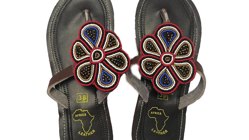 Beaded Flower Sandals