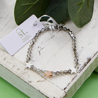 SARAH TEMPEST -Pretty cut glass beaded bracelet with  little stars.