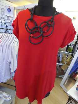 FOIL - Lovely Round Neck Red Top