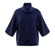 MARBLE stylish Navy Crossover Sweater