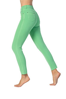 MARBLE - Green 7/8th 4 way stretch jeans
