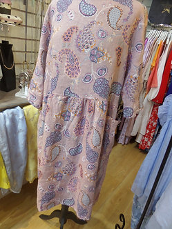NEW COLLECTION - Pretty Paisley Linen Dress
