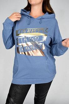 Made in Ital - Metalic Slogan Hoodie
