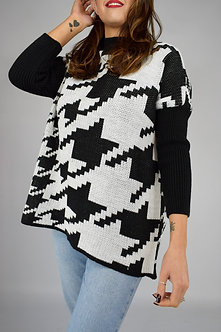 CIA MILANO -  Oversized Dog tooth Jumper