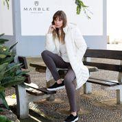 Marble  Stunning White Puffer coat