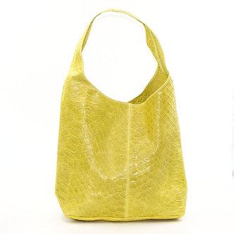 SARAH TEMPEST - Stunning Yellow leather crocodile pattern handbag  er leather