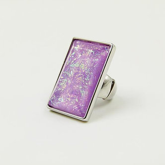 SARAH TEMPEST - Statement iridescent stone ring