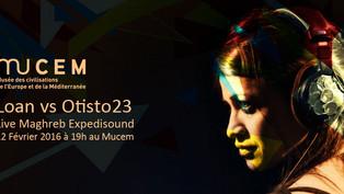 En live au Mucem avec Otisto23 !