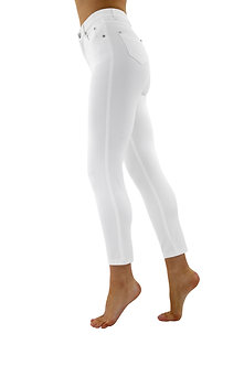 MARBLE - White jeans 7/8th 4 way Stretch