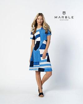 MARBLE - Lovely Blue Multi Dress