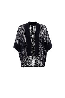 MARBLE - Black Lacey Cardigan