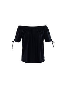 MARBLE -Pretty black gypsy style top