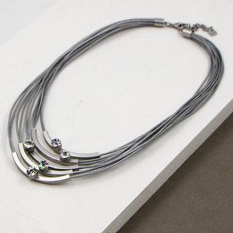 SARAH TEMPEST - Short Multi Strand silver necklace