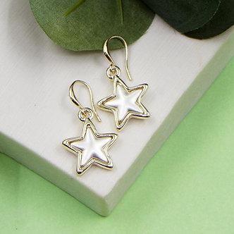 SARAH TEMPEST - Star charms earrings matt silver