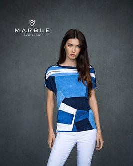 MARBLE - Pretty Blue Multi Top