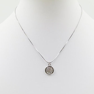 SARAH TEMPEST - Swarovski Crystal disc pendant on delicate chain.