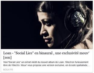 Social Lies en version binaurale avec Mouv'