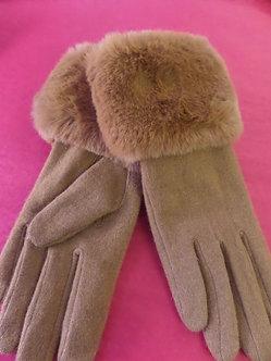 BOUTIQUE  Faux Fur Trim Glove