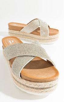 Pia Rossini  Nour Silver Sandals
