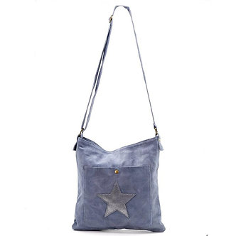 SARAH TEMPEST - Italian Leather Cross body Star Bag