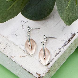 SARAH TEMPEST - Contemporary leaf shape earrings