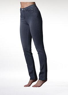 MARBLE - Grey Slim Straight Leg Jeans