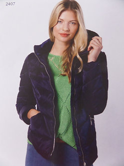 MARBLE -Navy 2 in one quilted Jacket
