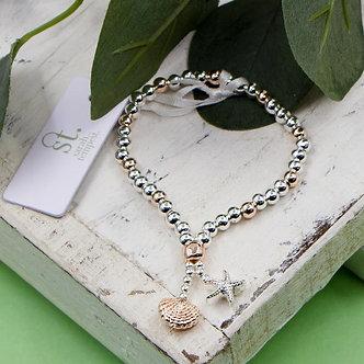 SARAH TEMPEST -Sea shells charms bracelet