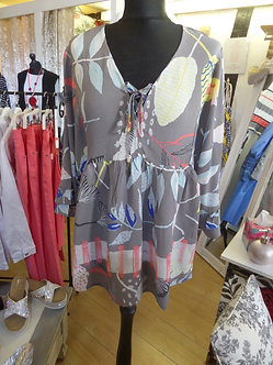 FOIL   Lovely Frill sleeve and hem pattern top