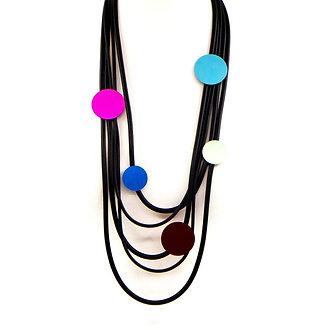 SARAH TEMPEST- Multistrand neoprene necklace