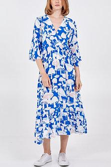 MISUMI - Lovely cobalt blue dress with Mushroom design