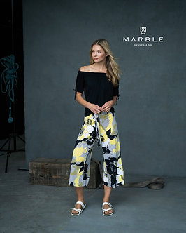 MARBLE  - Striking yellow, black and white cullottess