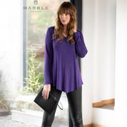 Marble - Stylish top with sparkle