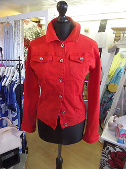 VOGGO - RED Denim style jacket