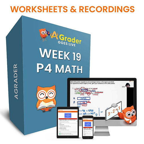 P4 Math (Week 19) - Term 2 Revision Paper 1