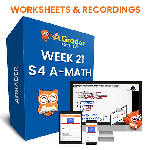 S4 A-Math (Week 21)- Topic 2.1: Integration Basics