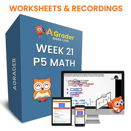 P5 Math (Week 21) - Term 2 Diagnostic Test (Revision Paper 1)