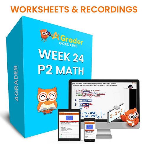 P2 Math (Week 24) - Term 2 Revision Paper 4