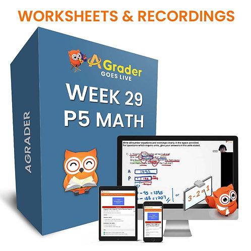 P5 Math (Week 29) - Topic 7: Rate