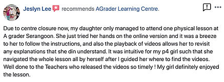 Tuition Centre Reviews | AGrader Learning Centre