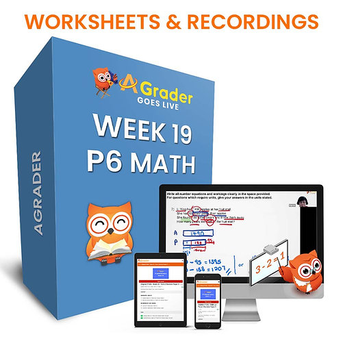P6 Math (Week 19) - Term 2 Revision Paper 1