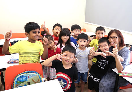 Happy students | Primary English tuition centre